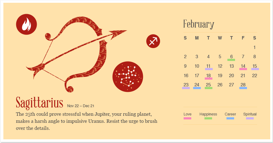 Sagittarius in February