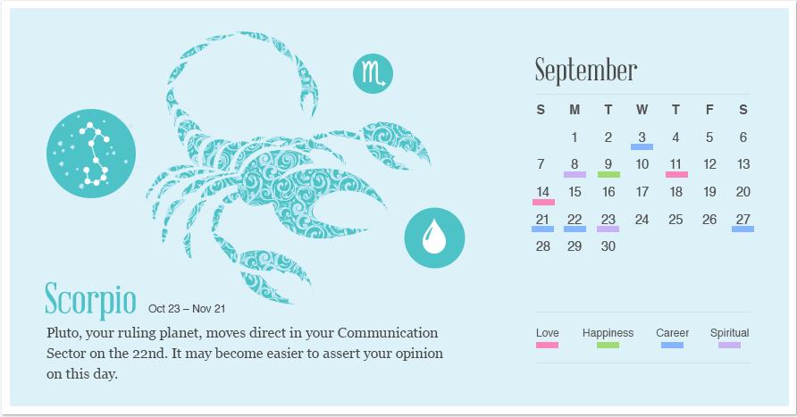 Scorpio in September