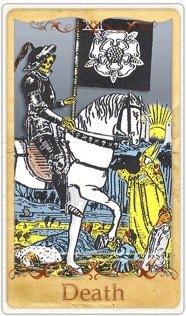 The Death Tarot Card based on Rider-Waite