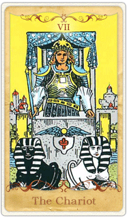 The Chariot Tarot Card based on Rider-Waite