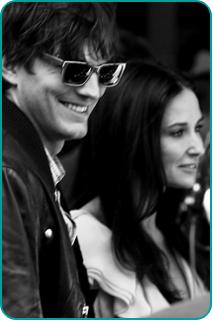 Ashton Kutcher and Demi Moore, photo taken by Josh Jensen