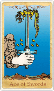 The Ace of Swords Tarot Card based on Rider-Waite