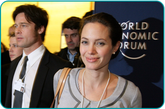 Brad Pitt and Angelina Jolie at the World Economic Forum