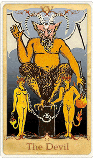 The Devil Tarot Card based on Rider-Waite