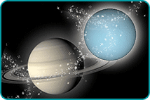 Planets Saturn and Uranus