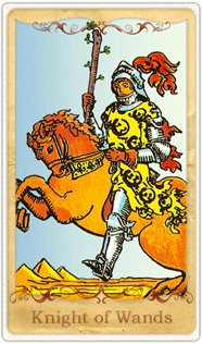 The Knight of Wands Tarot Card based on Rider-Waite