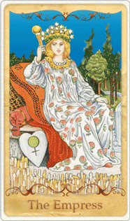 The Empress Tarot Card based on Rider-Waite