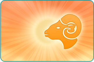 Illustration of Capricorn Goat's head over the Sun