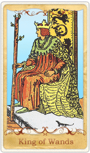 The King of Wands Tarot Card based on Rider-Waite