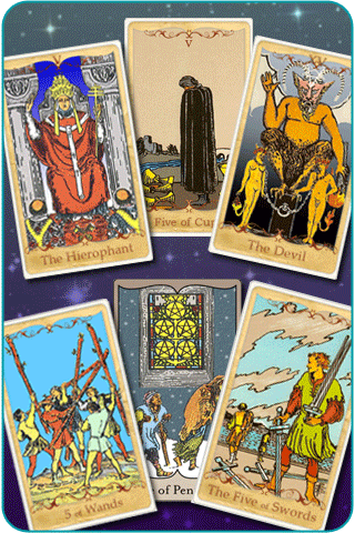 the suit of five tarot cards