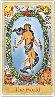 The World Tarot Card based on Rider-Waite